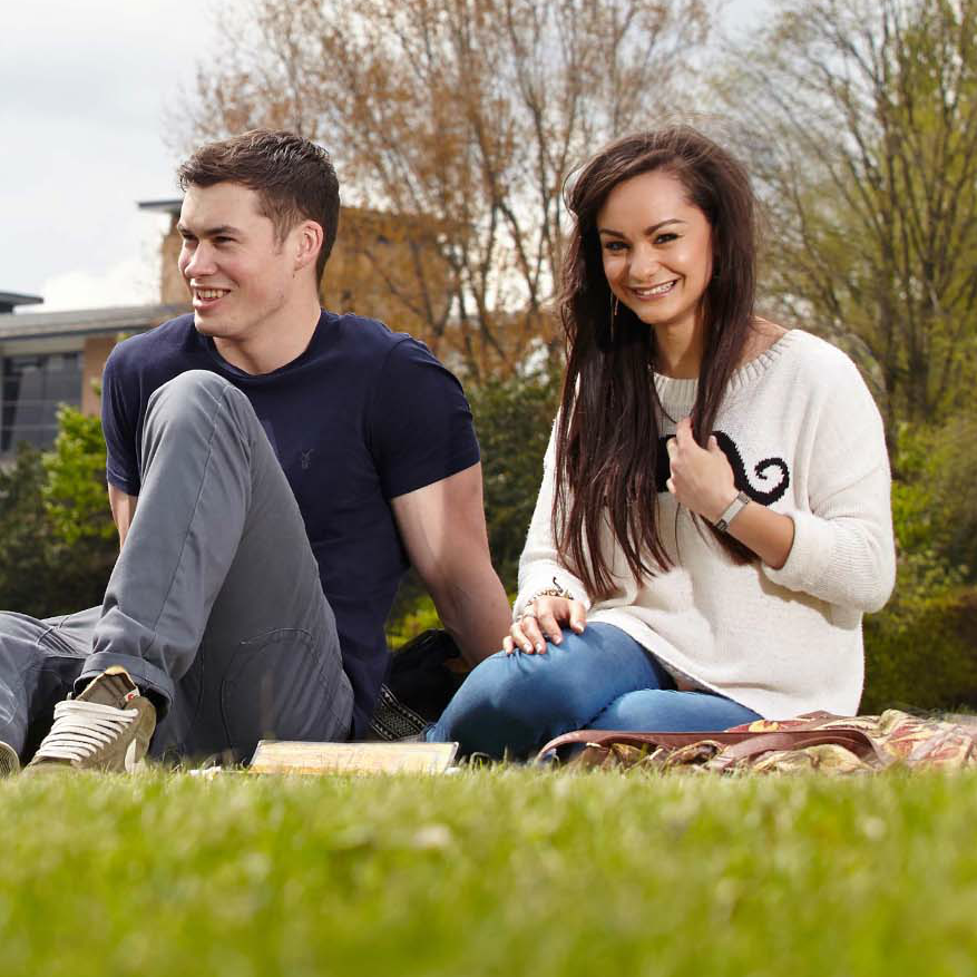 Leeds Trinity University students in campus