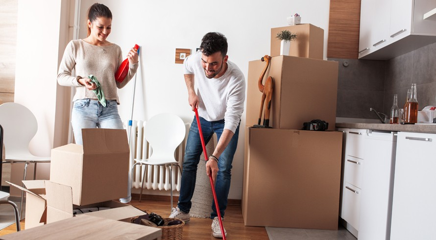 Moving into a house