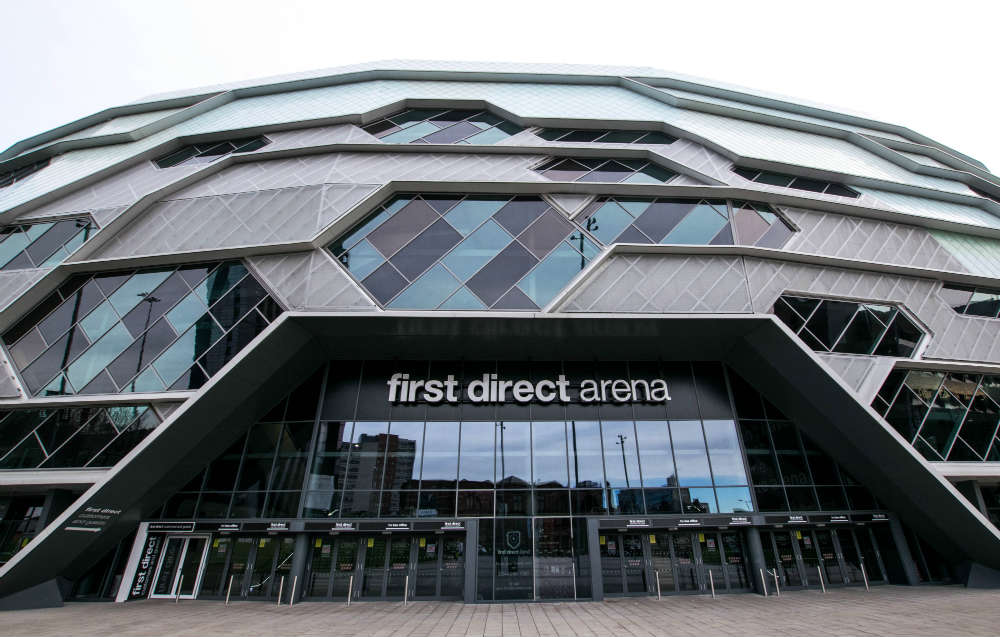 The entrance to the First Direct Arena