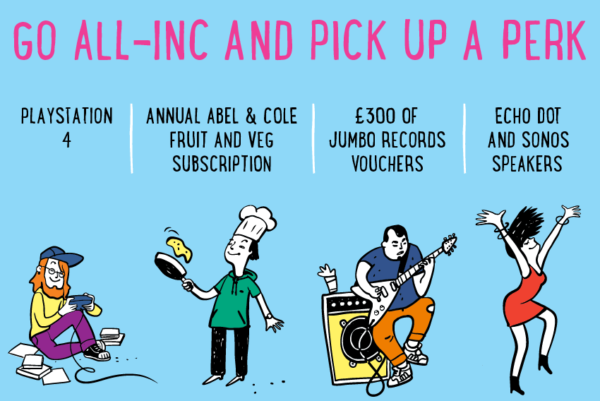 Go all-inc and pick up a perk at Rentinc