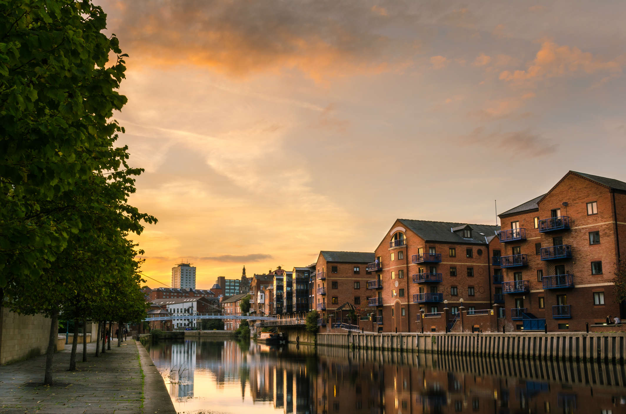 The Leeds Liverpool Canal at sunset