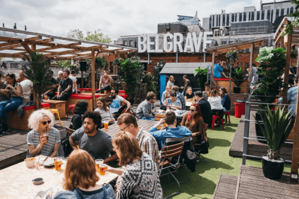 The rooftop of Belgrave Music Hall